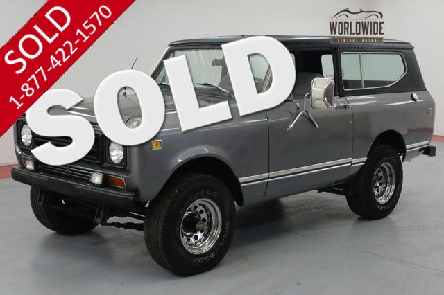 1977 INTERNATIONAL SCOUT AUTO, PS, PB, REMOVABLE TOP, COLLECTOR 4x4!