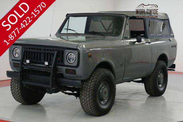 1975 INTERNATIONAL  SCOUT RESTORED. V8. PS. 4x4. LOW MILES. AUTO