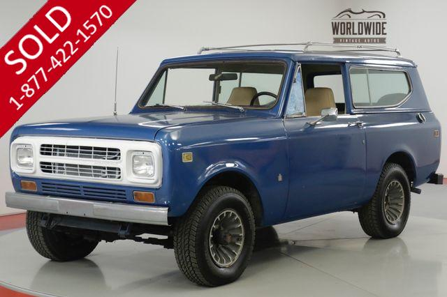 1980 INTERNATIONAL  SCOUT RARE LATER PRODUCTION 4x4! STEEL WHEELS
