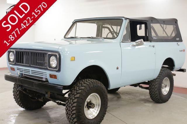 1975 INTERNATIONAL  SCOUT  II NEW PAINT 4X4 SOFT TOP LIFTED READY