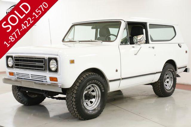 1979 INTERNATIONAL SCOUT CLEAN V8 AUTO AC HEAT COLLECTOR GRADE