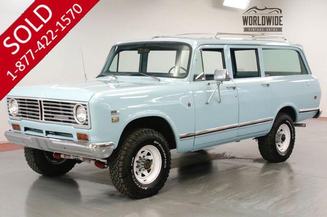 1973 INTERNATIONAL TRAVELALL 392 V8. PS. PB. AC! 4x4. RARE 5 SPEED. SCOUT
