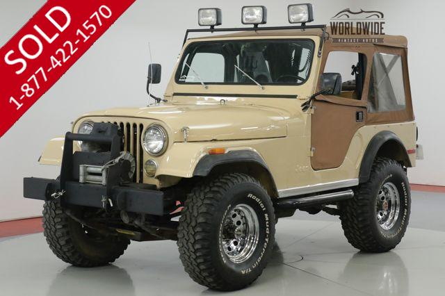 1977 JEEP  CJ5  RARE LEVI EDITION! V8 MANUAL 4X4 A/C!