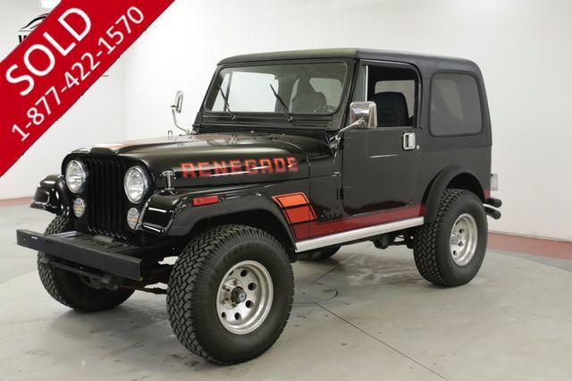 1984 JEEP CJ7 RENEGADE HIGH DOLLAR RESTORATION V8 5K MILES