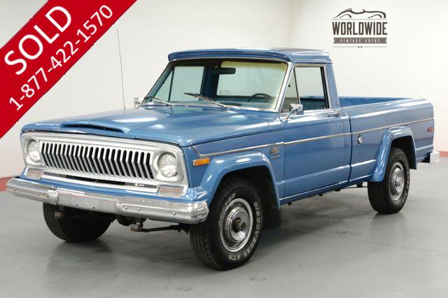 1975 JEEP J10 GLADIATOR TRUCK. V8! 4x4! PS. PB. COLLECTOR