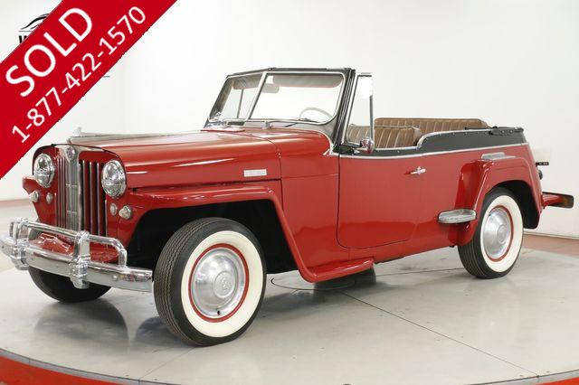 1949 JEEP JEEPSTER  WILLYS OVERLAND RARE 61K MILES HURRICANE 6
