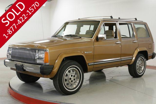 1985 JEEP WAGONEER ONE OWNER LOW MI 4X4 V6 PS PB TIME CAPSULE