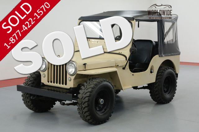 1949 JEEP WILLYS CJ3A FRAME OFF RESTORED 4X4 FULL TOP