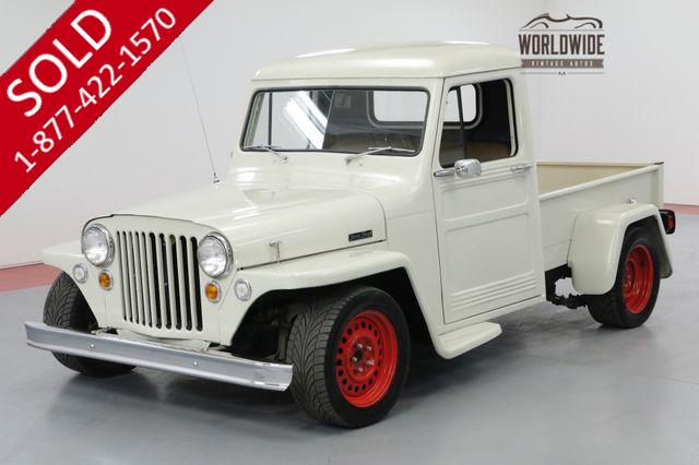 1949 JEEP WILLYS PS 4 WHEEL DISC CUSTOM WOOD BED, LOWERED