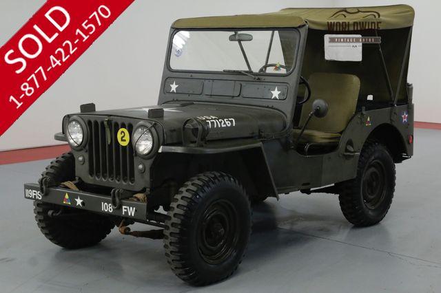1952 JEEP WILLYS CJ3A. M38 MILITARY.