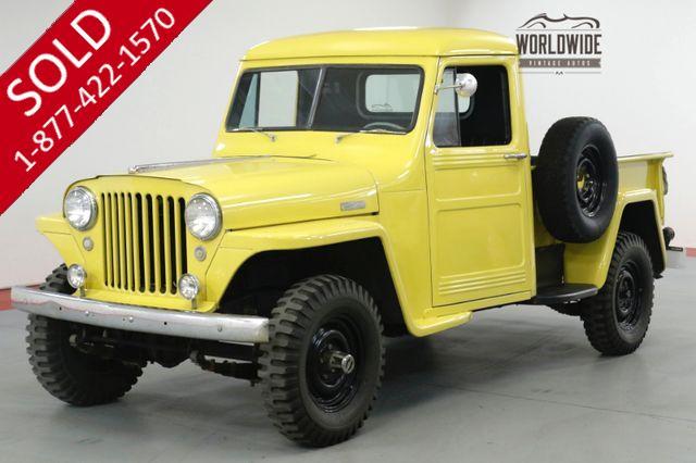 1949 JEEP   WILLYS  4x4. RARE RESTORED PICKUP. HURRICANE MOTOR!