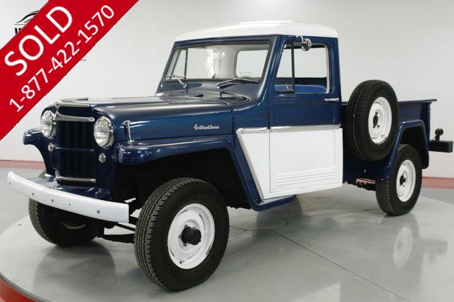 1962 JEEP WILLYS TRUCK RESTORED 4x4 COLLECTOR MUST SEE!