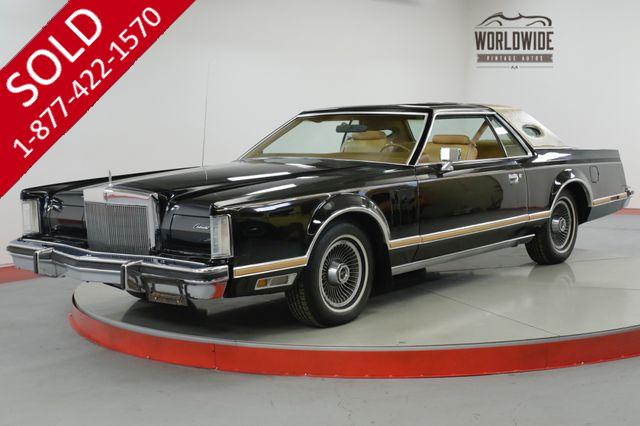 1978 LINCOLN  CONTINENTAL MARK V LOW ORIG MILES CLEAN BUILD SHEET OPTIONED (VIP)