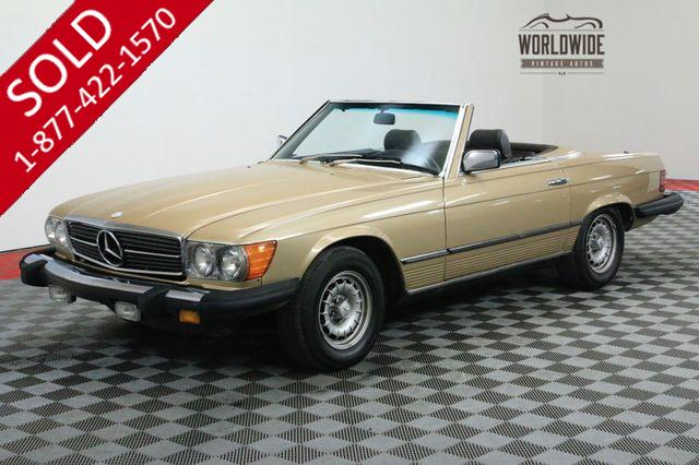1980 MERCEDES-BENZ 450SL LAST YEAR OF THE 450 TWO TOPS V8