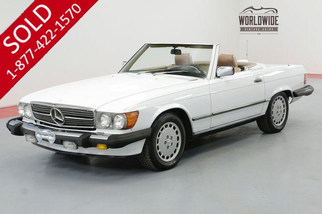 1986 MERCEDES-BENZ 560SL RARE  LOW MILES CLEAN AUTO CHECK TWO TOPS