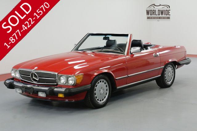 1987 MERCEDES-BENZ 560SL RARE RED WITH BLACK SOFT TOP A/C BLOWS COLD