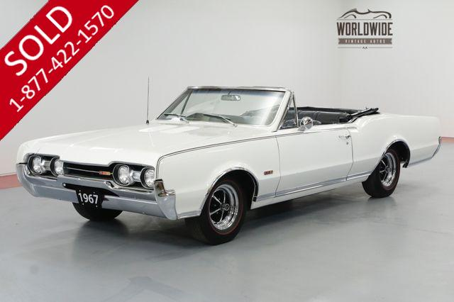 1967 OLDSMOBILE 442 CONVERTIBLE 400 V8 FACTORY 4 SPEED MANUAL RARE