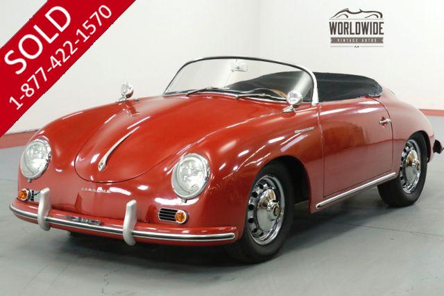 1957 PORSCHE SPEEDSTER 356. 4 WHEEL DISC BRAKES. 2100 CC. REPLICA