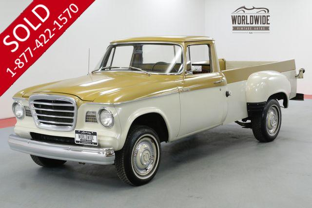 1960 STUDEBAKER CHAMP PICK UP VERY RARE ORIGINAL V8 COLLECTOR
