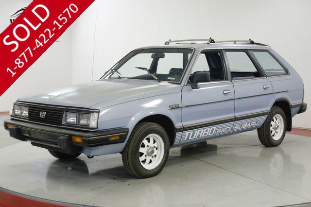 1983 SUBARU  GL  TURBO WAGON 4WD CA CAR LOW MI AC COLLECTOR