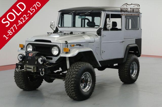 1971 TOYOTA FJ40 LIFTED 4X4. 4-WHEEL DISC 2F MOTOR. TWO TOPS!