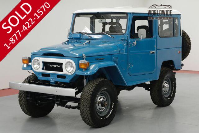 1978 TOYOTA LAND CRUISER FJ40 FRAME OFF RESTORATION RARE COLOR COLLECTOR
