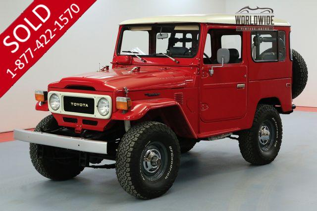 1979 TOYOTA LAND CRUISER FJ40 EXTENSIVE RESTORATION FJ45 FJ55 FJ60