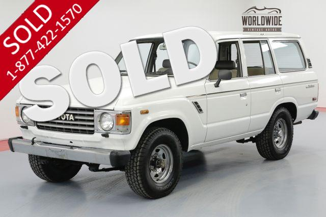 1984 TOYOTA LAND CRUISER FJ60 TIME CAPSULE COLLECTOR GRADE LOW MILES