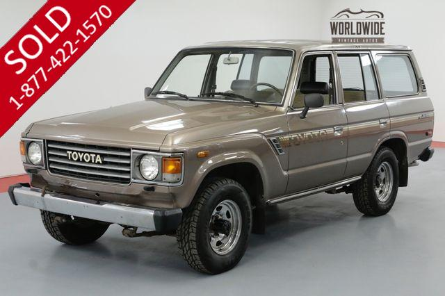 1985 TOYOTA LAND CRUISER FJ60. 1 OWNER! 48K ORIGINAL MILES! COLLECTOR
