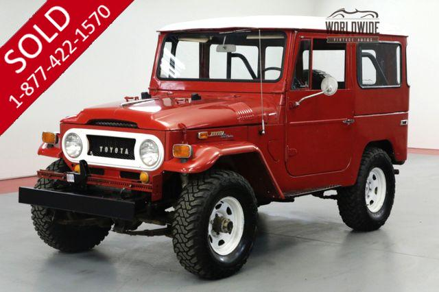 1970 TOYOTA LAND CRUISER FJ40. RESTORED. DRIVER. 4x4. CONVERTIBLE.