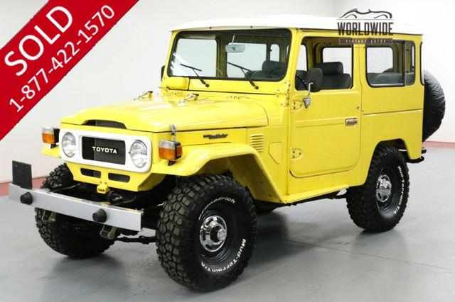1980 TOYOTA LAND CRUISER FJ40. FRAME OFF RESTORED. FACTORY HARDTOP.