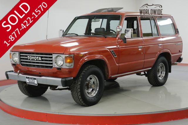 1984 TOYOTA LAND CRUISER FJ60 COLLECTOR GRADE LOW MILES 2 OWNR CO CAR