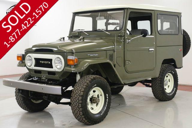 1976 TOYOTA  LAND CRUISER FJ40 NORTH AMERICAN FRAME OFF RESTORED OLIVE