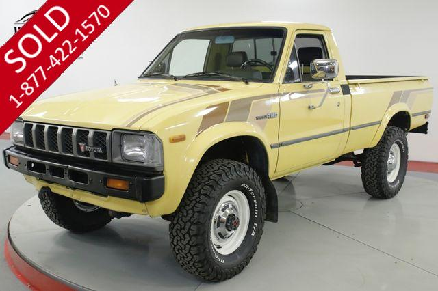 1982 TOYOTA PICKUP HILUX STRAIGHT AXLE 4x4 RARE LOW MILES 5 SPD