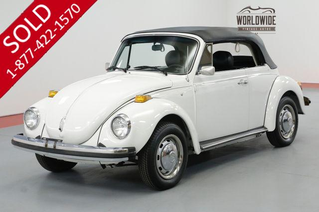 1978 VOLKSWAGEN BUG CONVERTIBLE 10K MILES LATE PRODUCTION