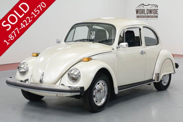 1973 VOLKSWAGON BEETLE BUG. NICE! HARDTOP, 4 SPEED, FENDER SKIRTS.