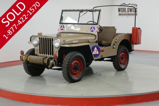 1946 WILLYS CJ2A  4x4 ORIGINAL!