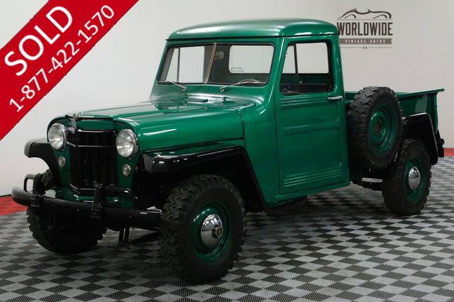 1956 WILLYS PICKUP RESTORED RARE 4X4 TRUCK COLLECTOR