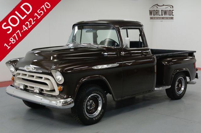 1957 CHEVROLET 3100 RESTORED STREET ROD. BIG WINDOW. V8. PS PB.