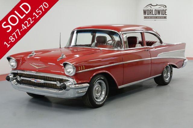 1957 CHEVROLET BELAIR RESTORED DISC BRAKES 5 SPEED 383 V8