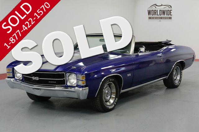 1971 CHEVROLET CHEVELLE SS TRIBUTE, PS, PB, FACTORY AC, POWER TOP!