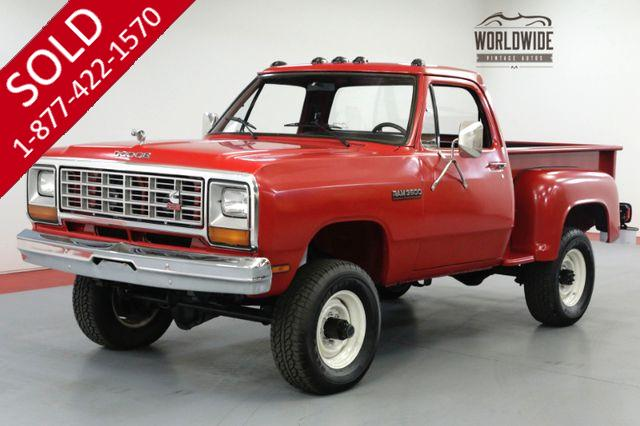 1983 DODGE POWER RAM W150 CUMMINS 5.9L DIESEL FRAME OFF RESTORED