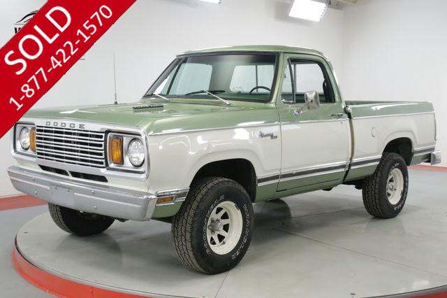 1977 DODGE  POWER WAGON ADVENTURER W150 4X4 PS PB REBUILT MOTOR/TRAN