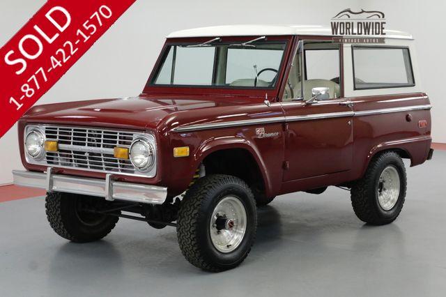 1971 FORD BRONCO RESTORED. UNCUT BRONCO SPORT. 302V8. 4X4