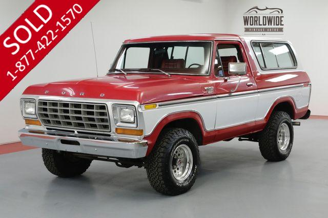 1978 FORD BRONCO TWO YEAR ONLY! RESTORED! REMOVABLE TOP! V8!