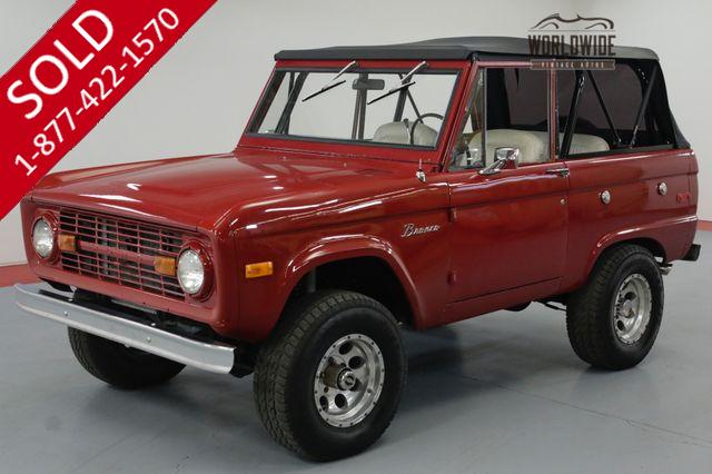 1973 FORD BRONCO RESTORED. UNCUT! 351 V8! AUTO. PS. PB.