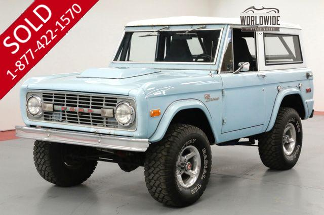 1972 FORD BRONCO 4x4 302 V8 4 SPEED HARD TOP. LIFT. 20K MILES