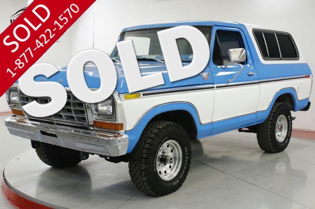 1978 FORD  BRONCO  REBUILT 400M AUTO PS PB AC 4X4 RANGER XLT