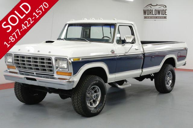 1978 FORD F-250  LARIAT RANGER 460V8 AUTOMATIC A/C 4X4 PS PB.