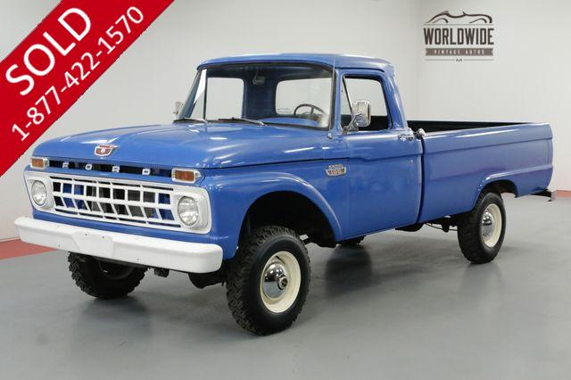 1965 FORD F100 FACTORY 4X4 WITH 390 V8. RARE!